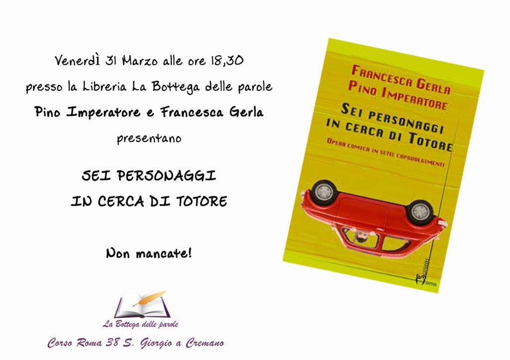 Pino Imperatore e Francesca Gerla in libreria!